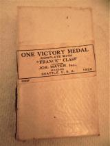 U.S. WWI, Boxed Victory medal